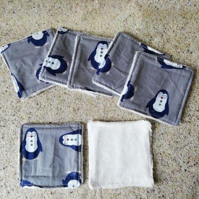 7 Lingettes lavables Pingouin