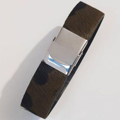 Bracelet Camouflage de 20 mm ajustable au poignet - Marron