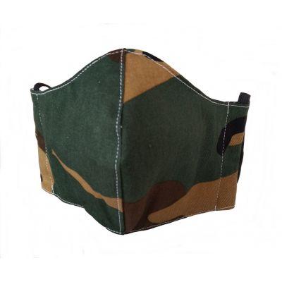 MASQUE tissu  camouflage en coton  lavable et réutilisable avec emplacement pour filtre - Femme