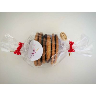 Spirales, biscuits nature et cacao