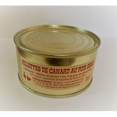 Rillettes de canard au foie gras  220gr