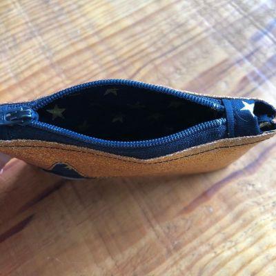 Porte monnaie zippé à paillettes