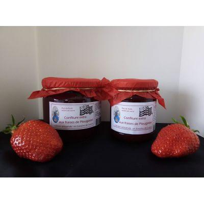 Confiture extra de fraises de Plougastel