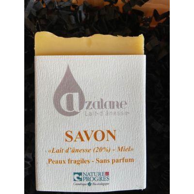 Savon Miel/Lait d'ânesse (20%) en SAF BIO