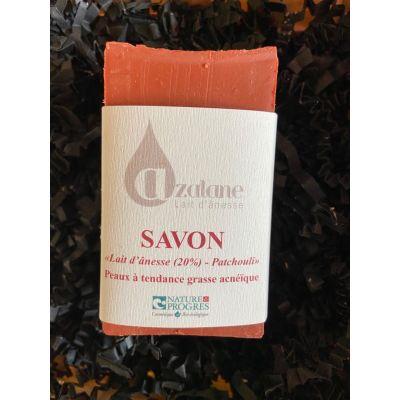 Savon Patchouli et lait d'ânesse (20%) en SAF BIO