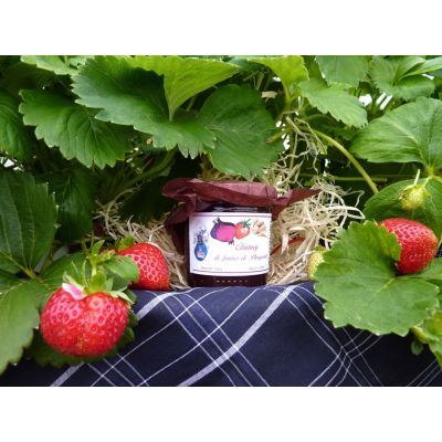 chutney de fraises et oignons de Roscoff