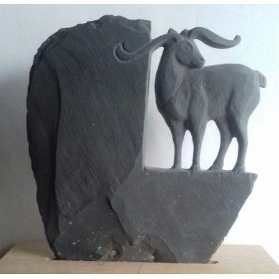 """Sculpture """"Cervidae"""" en ardoise"""