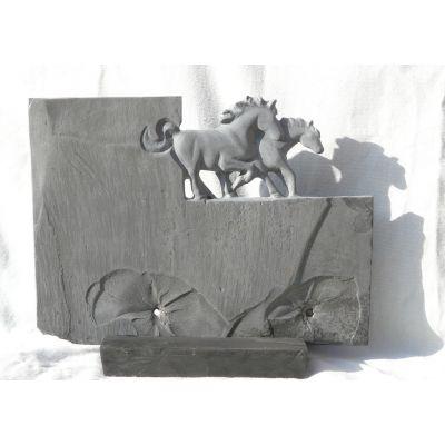 "Sculpture ""Equus"" en ardoise locale"