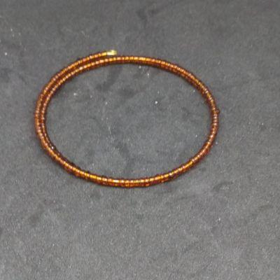 Bracelet à mémoire de forme perles transparentes - Vert sapin