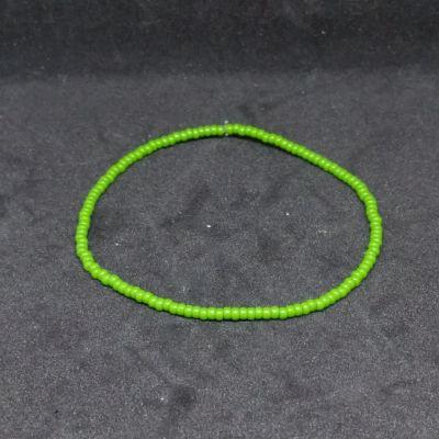 Bracelet élastique en perles - Gris - aucune = uni