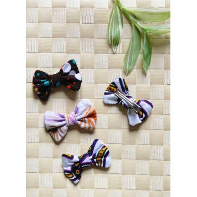 Barrette nœud-papillon multicolore - 3