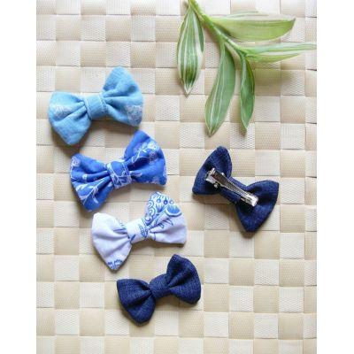 Barrette nœud-papillon bleue - 4
