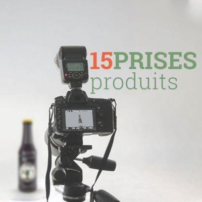Prise de vue - Jusqu'à 15 produits