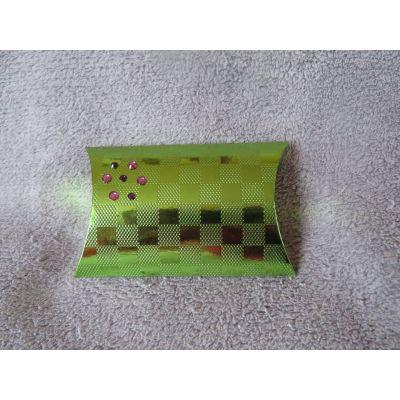 Emballage cadeau boite berlingot vert