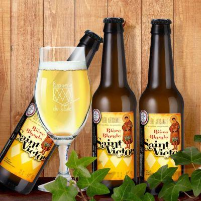 Lot de 12 bières Blondes 33 cl