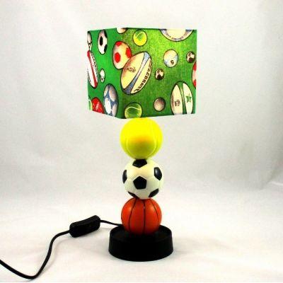 Lampe chevet enfant ballons sport @Rêve de Lampes