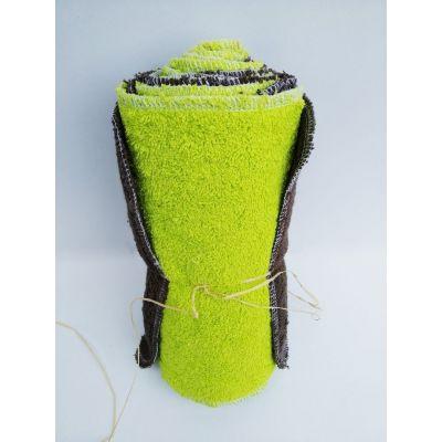 lot de 10 feuilles essuie-tout lavable sans pression 22cm/22cm en coton bio Marron/Vert