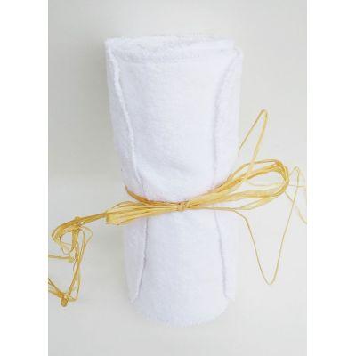 lot de 10 feuilles essuie-tout lavable sans pression 22cm/22cm en coton bio Blanche