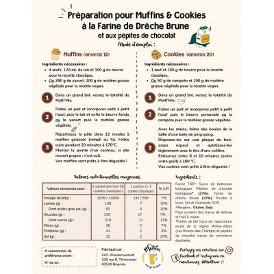 Préparation pour Muffins et Cookies à la Farine de Drêche Brune