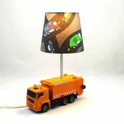 Lampe chevet enfant camion de poubelle