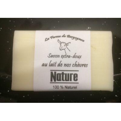 Savon 100% NATUREL  au Lait de nos chèvres, 100g
