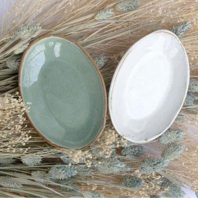 Porte-savon en céramique - Vert d'eau