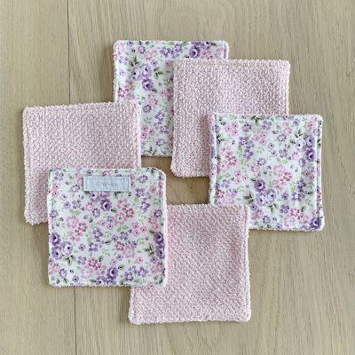 lingettes lavables bébé - rose