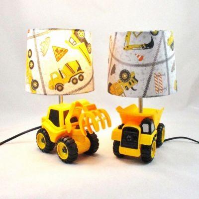 Lampe enfant engin de chantier au choix @Rêve de Lampes - Camion de chantier