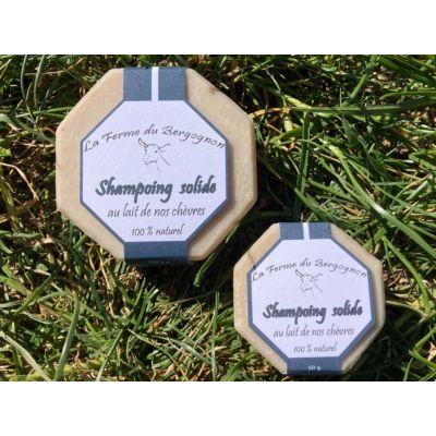 50g ou 100g Shampoing Solide 💯 naturel enrichi au lait de nos chèvres - 50g