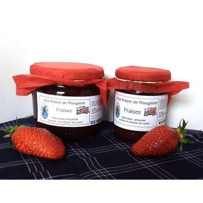 Confiture extra de fraises de Plougastel - 375g