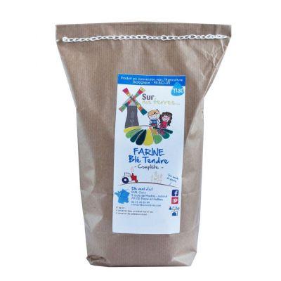 Farine de blé tendre complète 5kg