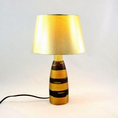 Lampe chevet cuivre et or