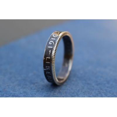 Bague anneau pièce de monnaie 1 Franc Semeuse. - 51 - Brillante