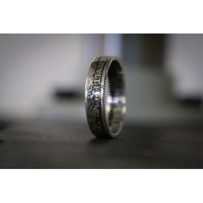 Bague anneau pièce de monnaie 1 Franc Cérès. - 55
