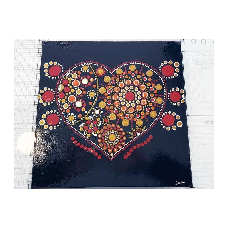 Tableau à l'acrylique cœur (DEFAUT)