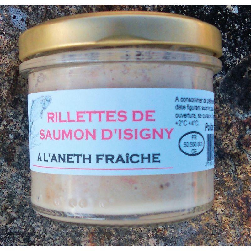 Rillettes de saumon d' Isigny a l' Aneth fraîche