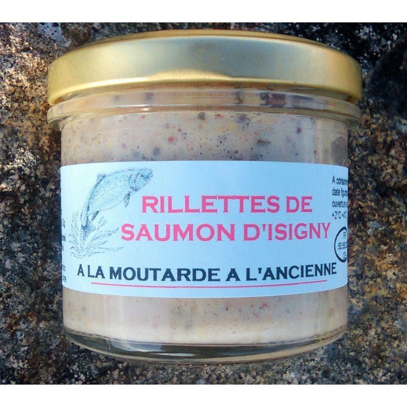 Rillettes de saumon d' Isigny a la moutarde à l' ancienne