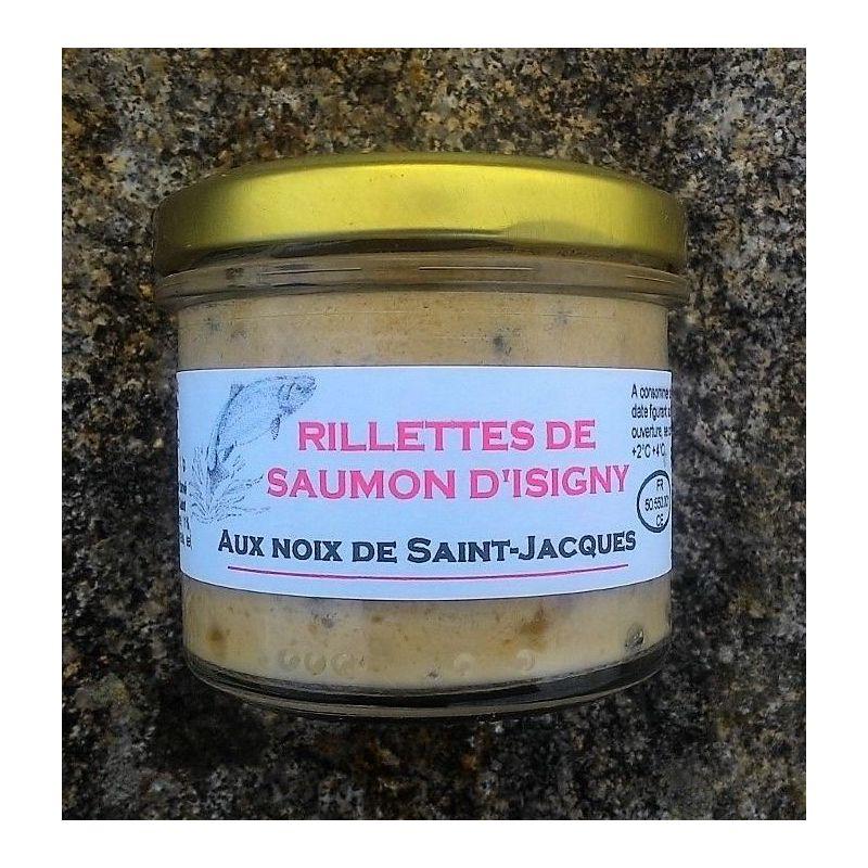 Rillettes de saumon d' Isigny aux noix de Saint-jacques