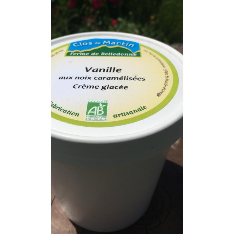 Glace artisanale bio Vanille - Noix