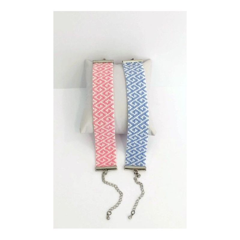"""Manchette en perles japonaises """"Lise"""" - Violet"""