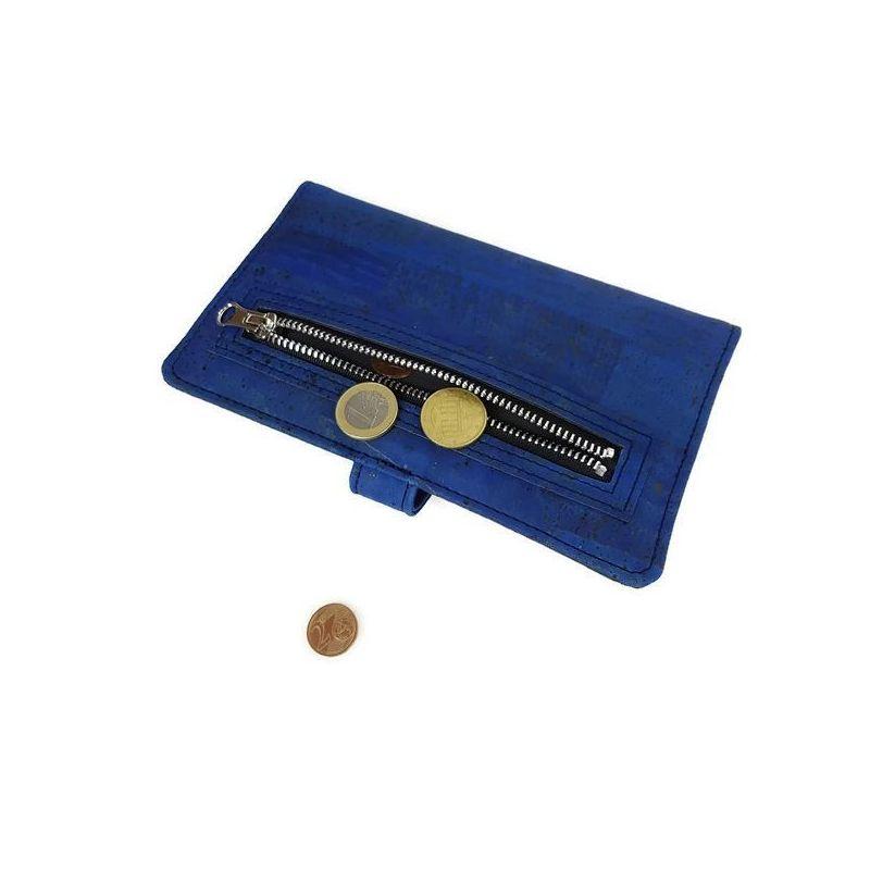 Portefeuille POLKA bleu