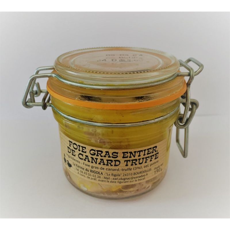 Foie gras de canard entier Truffé 190gr