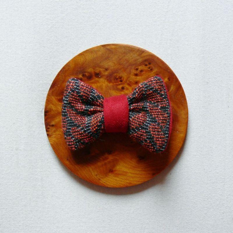 Barrette nœud-papillon rouge - 2