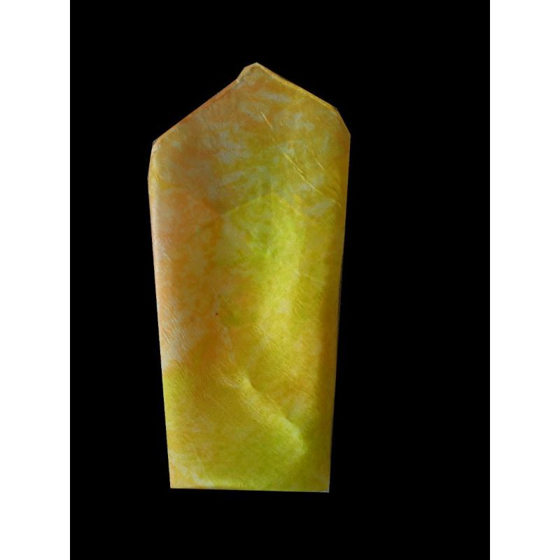 Pochette en soie jaune paille et anis@evysoie