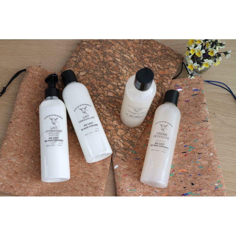 2en1 Lavant corps et cheveux, enrichi au lait de nos chèvres, senteur Fleur de Tiaré 25cl / 1L / 5 L - 1L