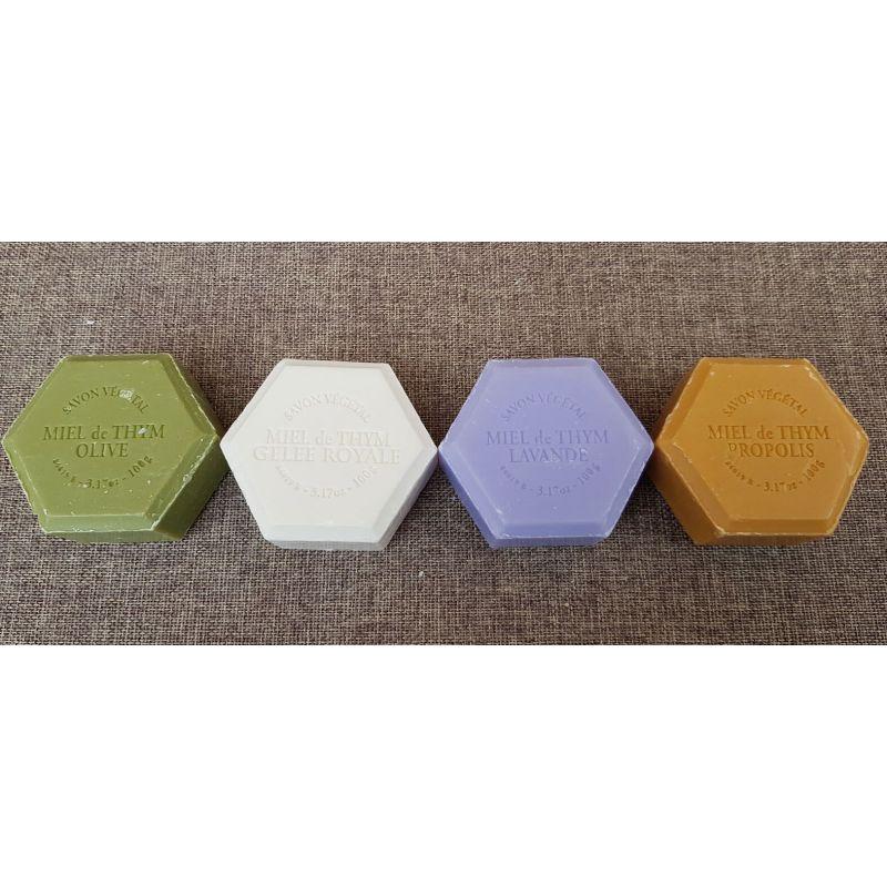 Coffret de 4 savons au miel de thym