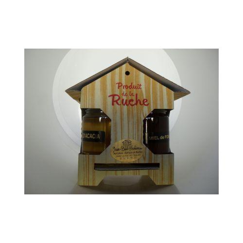 Coffret CADEAU ruche 4 miels x 125g