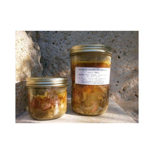 Plats cuisinés : Tajine de canard aux amandes