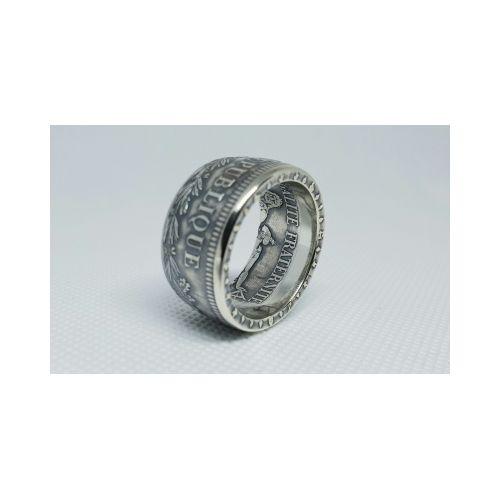 Bague pièce de 50 Francs Hercule en argent (coin ring)
