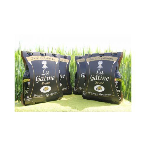 La Gâtine Brune par carton de 4 packs de 3x33 cl
